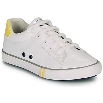 Shoes Boy Low top trainers Ikks WILLIAM White / Yellow