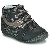 Shoes Girl Mid boots GBB NOEMIE Black / Silver