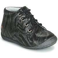 Shoes Girl Mid boots GBB NAOMI Black / Silver