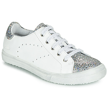 Shoes Girl Low top trainers Achile CLAUDIA White / Silver