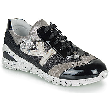 Shoes Girl Low top trainers Ikks FIONA Black / Silver