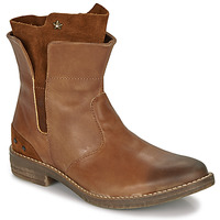 Shoes Girl Mid boots Ikks PAMELA Cognac