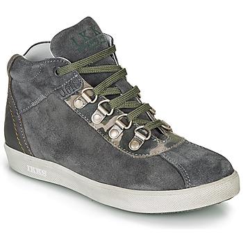 Shoes Boy Mid boots Ikks ISAAC Grey / Kaki