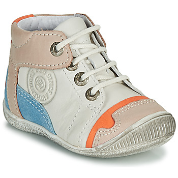 Shoes Boy Mid boots GBB PAOLO White / Beige / Blue