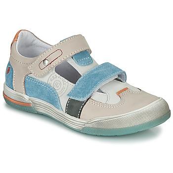 Shoes Boy Sandals GBB PRINCE Ecru / Beige / Blue