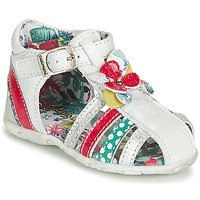 Shoes Girl Sandals Catimini PERSAN White / Multicoloured