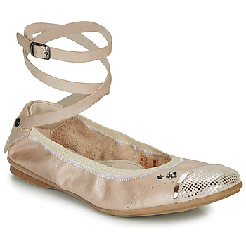 Shoes Girl Ballerinas Ikks EMILY Beige