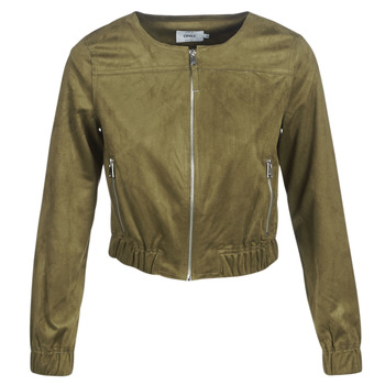 material Women Leather jackets / Imitation le Only ONLLEONA Green