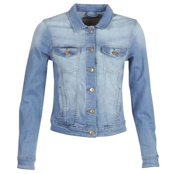 material Women Denim jackets Only ONLTIA Blue / Clear