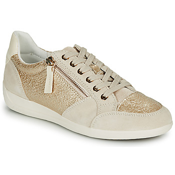 Shoes Women Low top trainers Geox MYRIA Gold / Cream