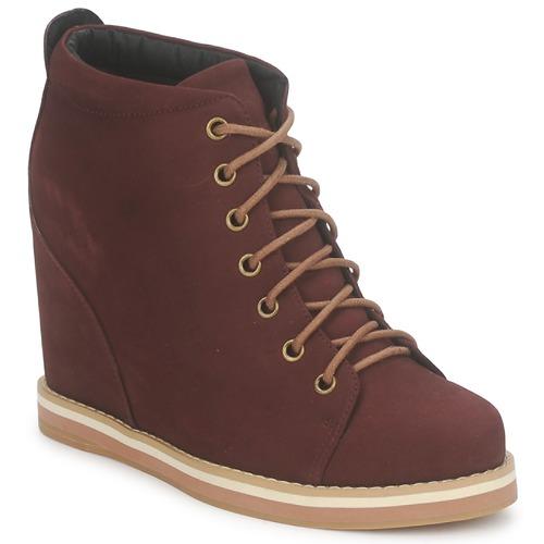 Shoes Women Low boots No Name WISH DESERT BOOTS Bordeaux