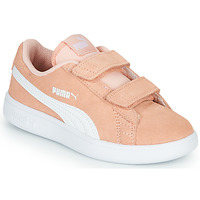 Shoes Girl Low top trainers Puma SMASH PSV PEACH Coral