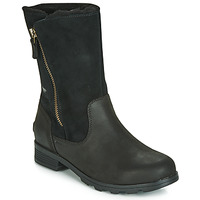Shoes Women Mid boots Sorel EMELIE FOLDOVER Black