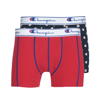 Underwear Men Boxer shorts Champion MIX UNI + IMPRIME X2 Black / Red