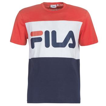 material Men short-sleeved t-shirts Fila MEN DAY tee Marine / Red / White