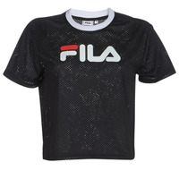 material Women short-sleeved t-shirts Fila WOMEN MICHELLE CROPPED MESH TE Black
