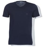 material Men short-sleeved t-shirts Emporio Armani CC722-111648-15935 Marine / Grey
