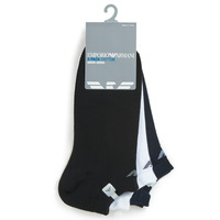 Clothes accessories Men Socks Emporio Armani CC134-300008-00997 White / Black / Marine