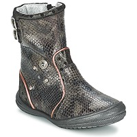 Shoes Girl Boots Catimini CLABAUD BRONZE / Black