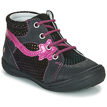 Shoes Girl Mid boots GBB NORA Black / Pink