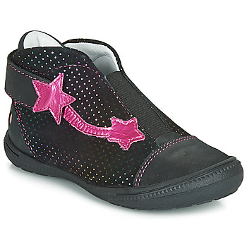 Shoes Girl Mid boots GBB NOLWENN Black / Pink