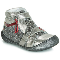 Shoes Girl Mid boots GBB NADETTE Silver
