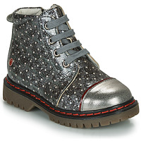 Shoes Girl Mid boots GBB NEVA Grey / Metallic