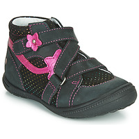 Shoes Girl Mid boots GBB NINA Black / Pink