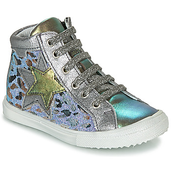 Shoes Girl High top trainers Achile MARTA Silver