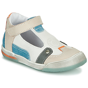 Shoes Boy Sandals GBB PERCEVAL White / Beige / Blue
