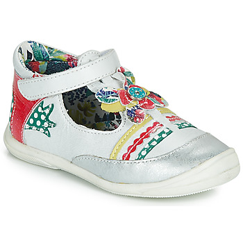 Shoes Girl Ballerinas Catimini PANTHERE White / Multicoloured