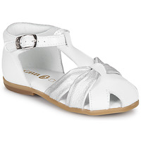 Shoes Girl Sandals GBB MARIANO White / Silver