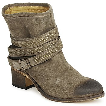 Shoes Women Ankle boots Atelier Voisin FEW DAIM Taupe