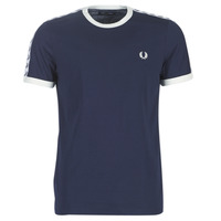 material Men short-sleeved t-shirts Fred Perry TAPED RINGER T-SHIRT Marine