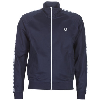 material Men Blouses Fred Perry TAPED TRACK JACKET Marine