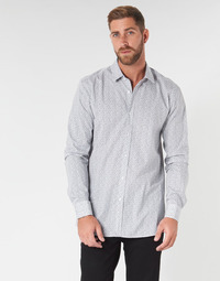 material Men long-sleeved shirts HUGO ELISHA02 Grey