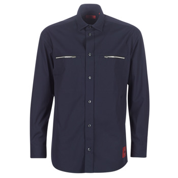 material Men long-sleeved shirts HUGO ETRUS Marine
