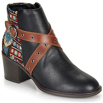 Shoes Women Ankle boots Desigual ALASKA TAPESTRY Black