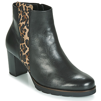 Shoes Women Ankle boots Gabor 3554122 Black / Leopard