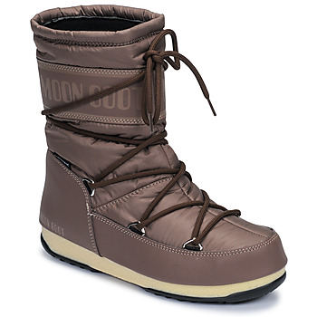 Shoes Women Snow boots Moon Boot MOON BOOT MID NYLON WP Brown