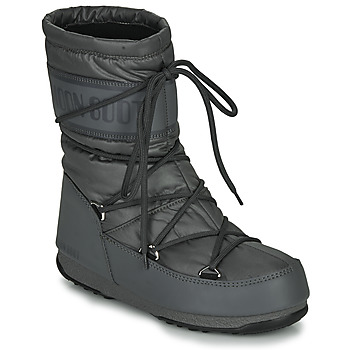 Shoes Women Snow boots Moon Boot MOON BOOT MID NYLON WP Grey