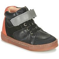 Shoes Boy High top trainers Babybotte KEN Black / Orange