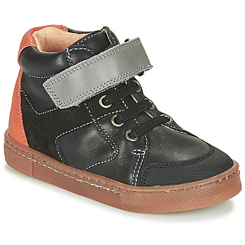 Shoes Boy High top trainers Babybotte KEN Black / Orange