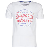 material Men short-sleeved t-shirts Kaporal OBUCE White