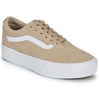 Shoes Women Low top trainers Vans WARD PLATFOR BE Beige