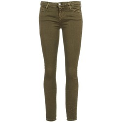 material Women cropped trousers Acquaverde SCARLETT KAKI