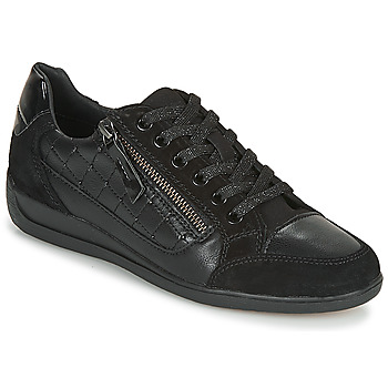 Shoes Women Low top trainers Geox D MYRIA A Black