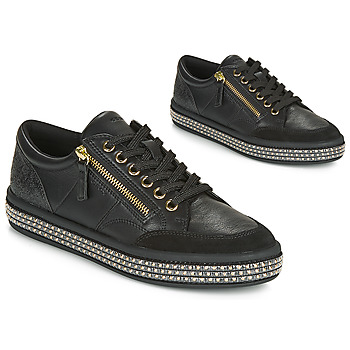 Shoes Women Low top trainers Geox D LEELU' Black