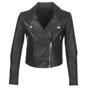 material Women Leather jackets / Imitation le Ikks BM48145-02 Black