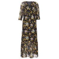 material Women Long Dresses Ikks BP30195-02 Black / Multicolour